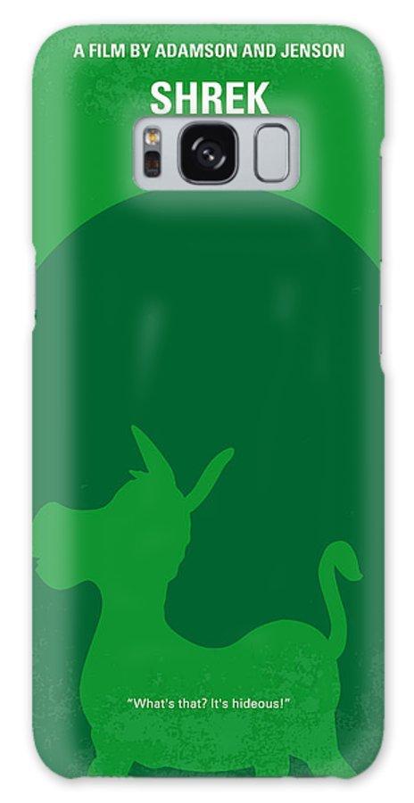 Shrek Galaxy Case featuring the digital art No280 My Shrek Minimal Movie Poster by Chungkong Art