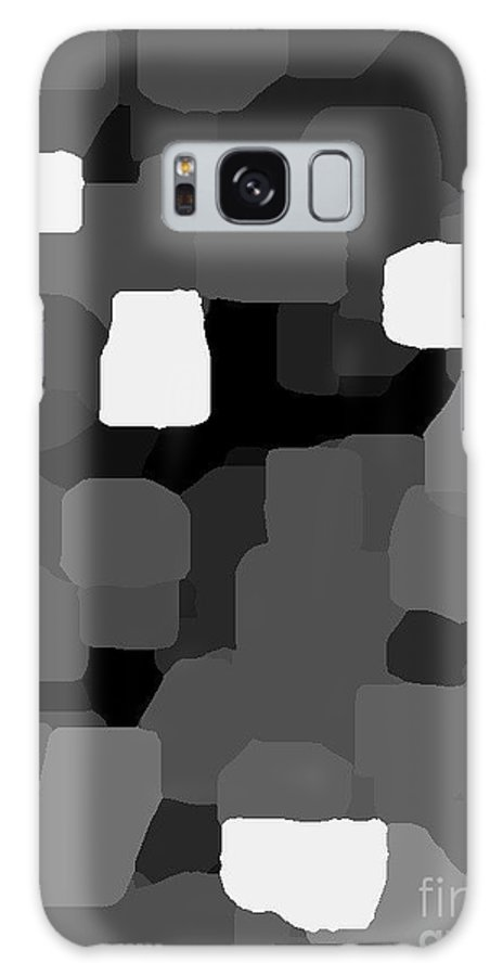 Noir Et Blanc Et Gris Hommage A Borduas Galaxy S8 Case featuring the painting Noir Et Blanc Et Gris Hommage A Borduas 470 by Carole Spandau