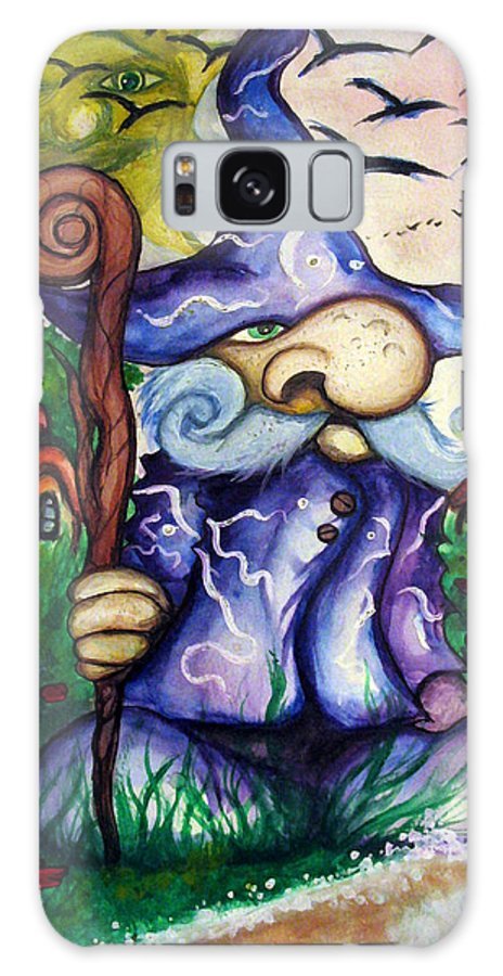 Norm Galaxy S8 Case featuring the painting Norm The Little Old Wizard by Richard Tyler