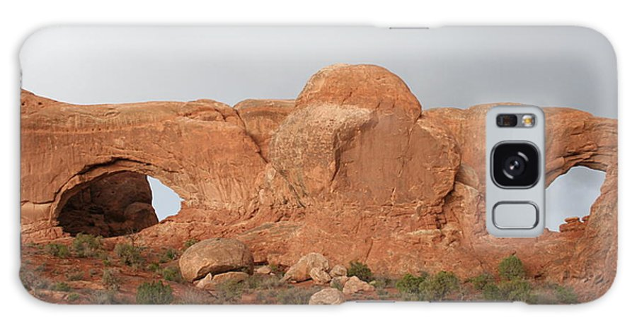Window Galaxy S8 Case featuring the photograph North And South Window Arches Np by Christiane Schulze Art And Photography