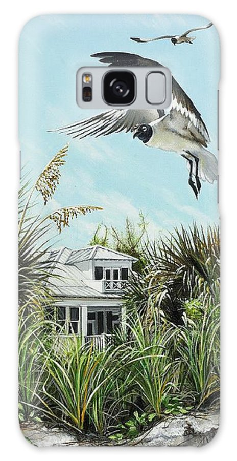 Bird Galaxy Case featuring the painting North Shore Landing by Joan Garcia