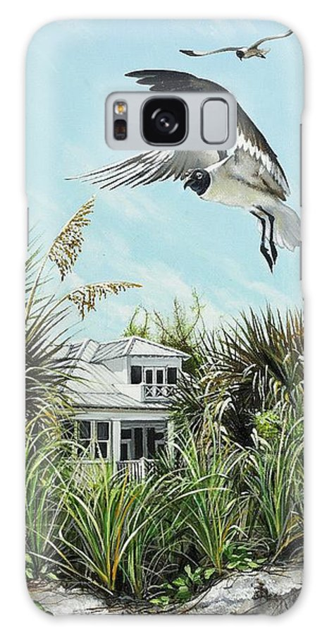 Bird Galaxy S8 Case featuring the painting North Shore Landing by Joan Garcia