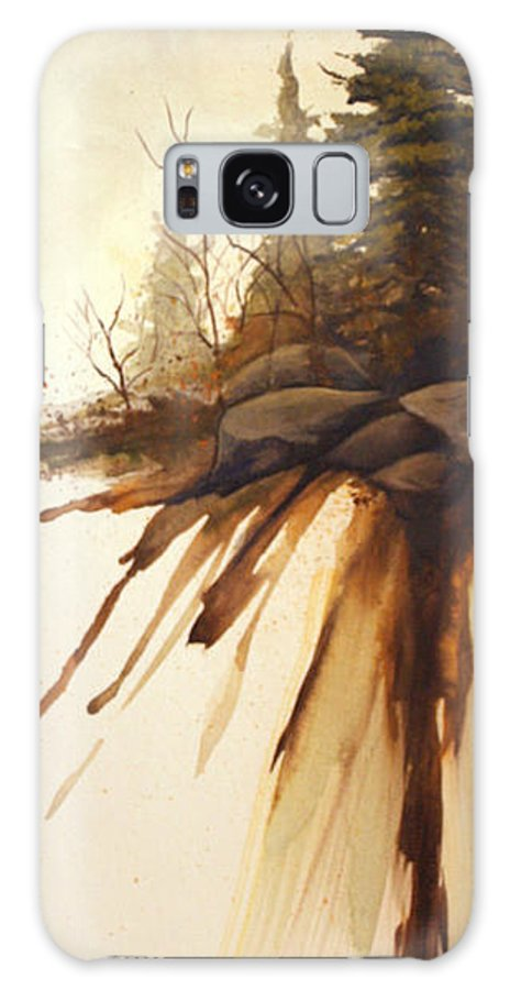 Rick Huotari Galaxy Case featuring the painting North Woods Pines by Rick Huotari