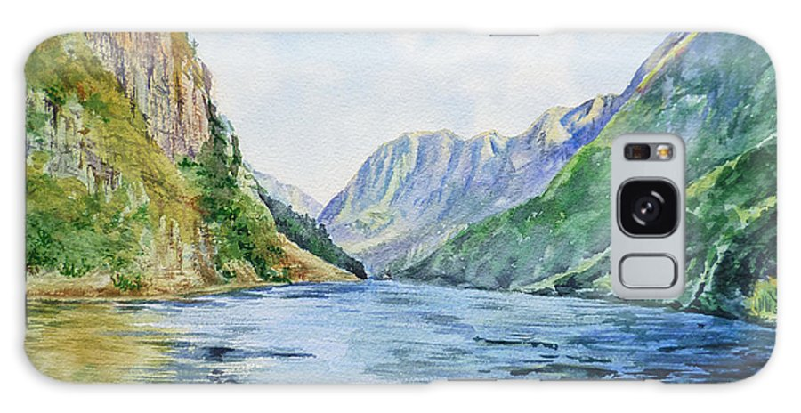 Norway Galaxy S8 Case featuring the painting Norway Fjord by Irina Sztukowski