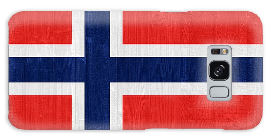 Norway Galaxy S8 Case featuring the photograph Norway Flag by Luis Alvarenga
