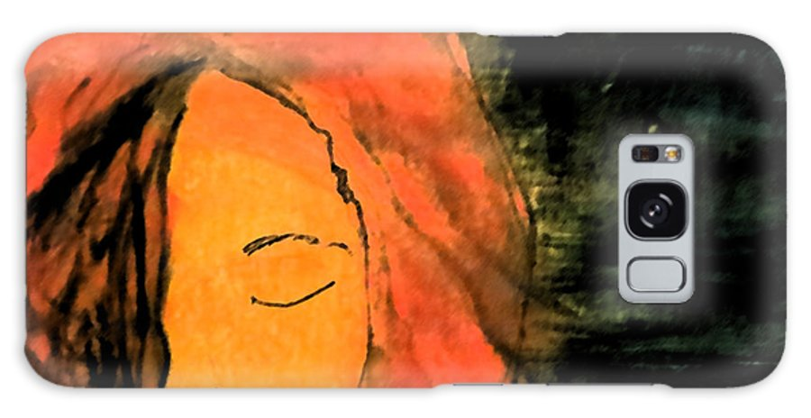 Woman Galaxy S8 Case featuring the drawing Not Seeing You by Patricia Januszkiewicz