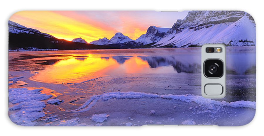 Galaxy Case featuring the photograph November Freeze 2 by Dan Jurak