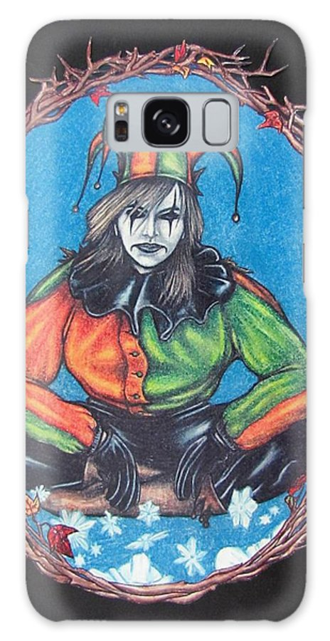 Michael Galaxy Case featuring the drawing November Snow by Michael TMAD Finney