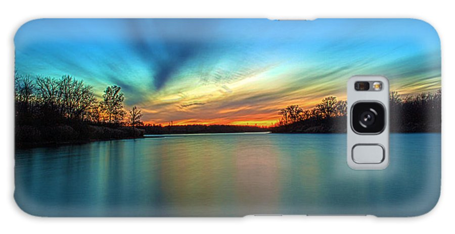Hdr Galaxy S8 Case featuring the photograph November Sunset by Thomas Sellberg