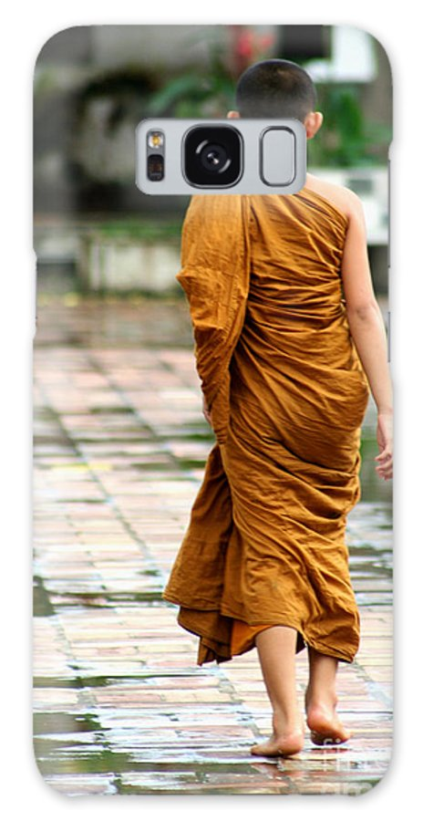Monk Galaxy S8 Case featuring the photograph Novice Monk Of Chedi Luang by Nola Lee Kelsey