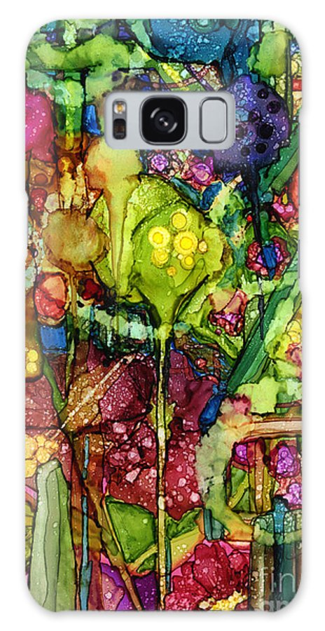 Abstract Galaxy S8 Case featuring the painting Number Viii by Vicki Baun Barry