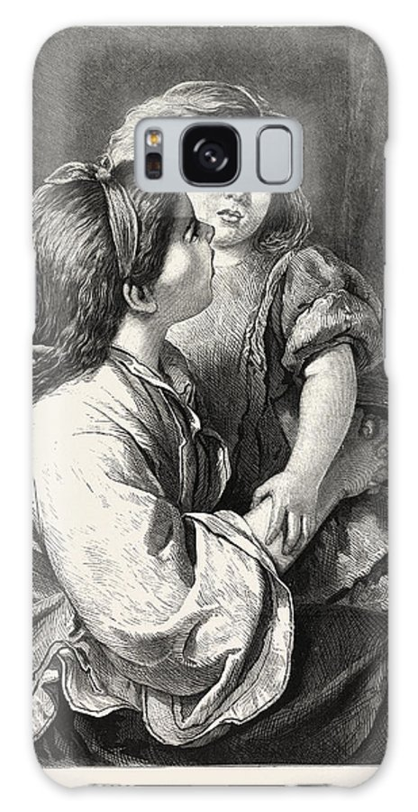 Nursery Galaxy S8 Case featuring the drawing Nursery Tales by Dobson, William Charles Thomas (1817-98), English