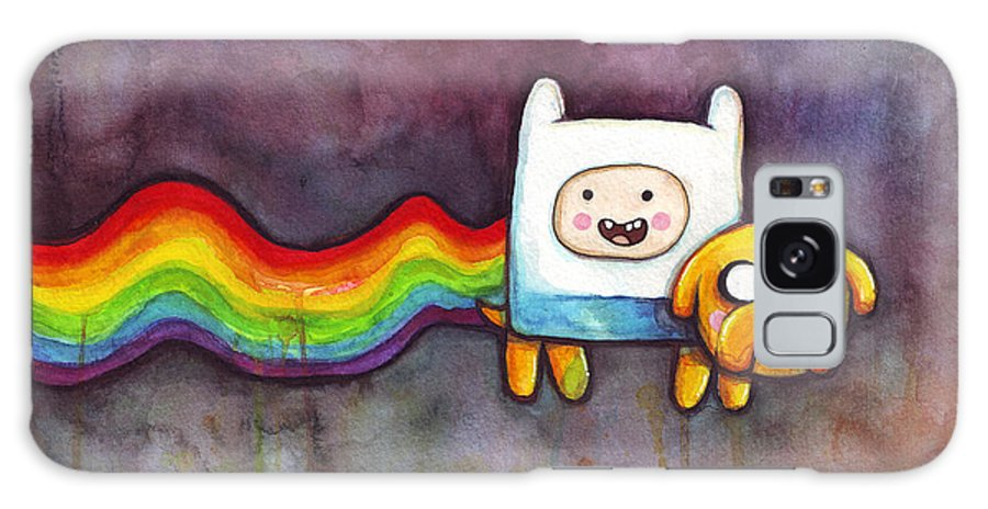 Nyan Cat Galaxy Case featuring the painting Nyan Time by Olga Shvartsur
