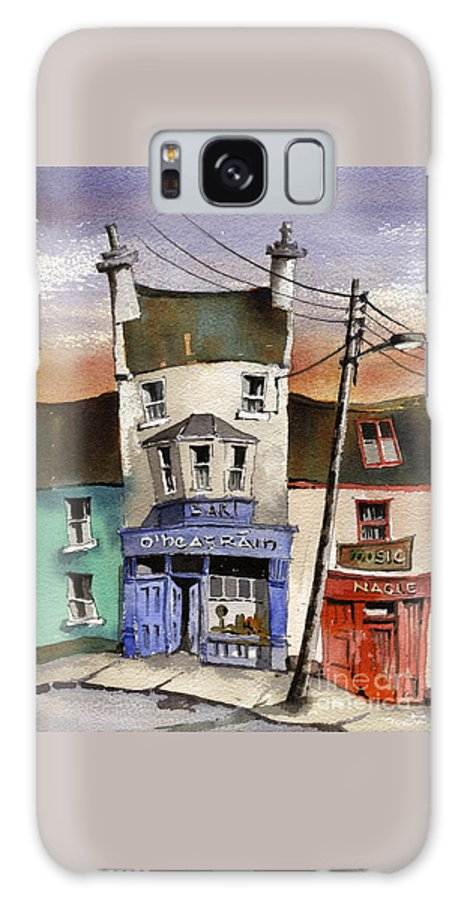Val Byrne Galaxy Case featuring the painting O Heagrain Pub, Viewed 21,339 Times by Val Byrne