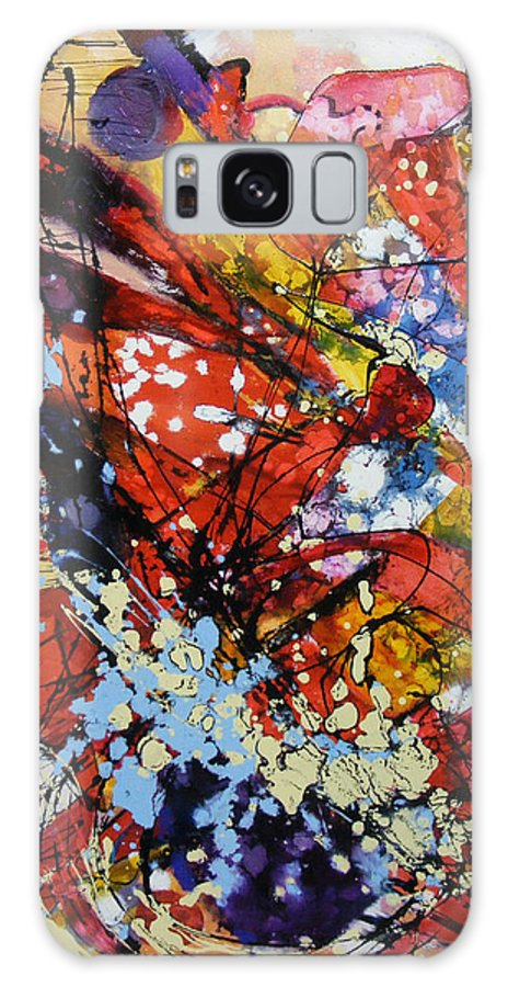 Abstract Galaxy S8 Case featuring the painting O Singura Poveste by Elena Bissinger