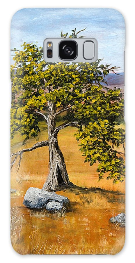 Landscape Galaxy Case featuring the painting Oak Tree by Darice Machel McGuire
