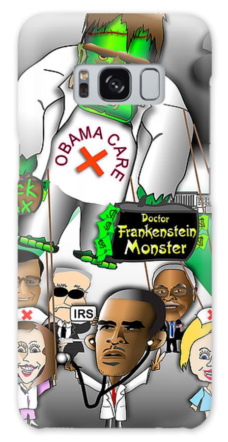 Obama Galaxy S8 Case featuring the digital art Obama Care Frankenstein Balloon by Dan Youra