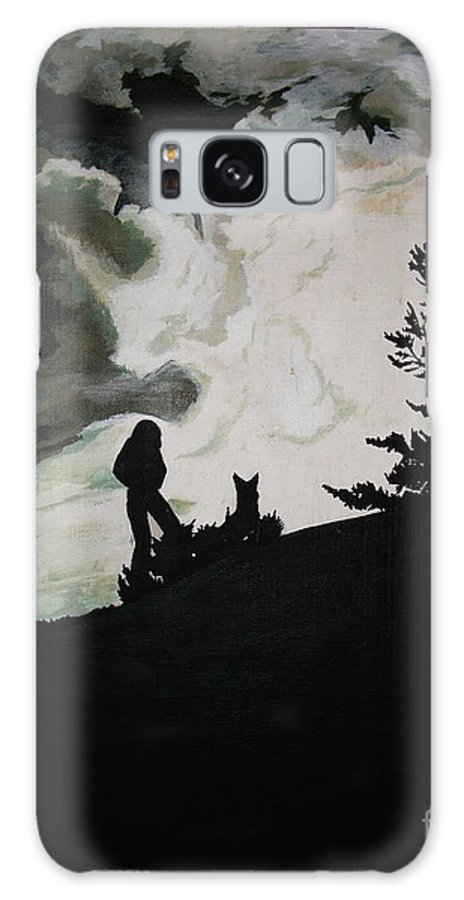 Oil Painting Galaxy S8 Case featuring the painting Ocean And I by Stuart Engel