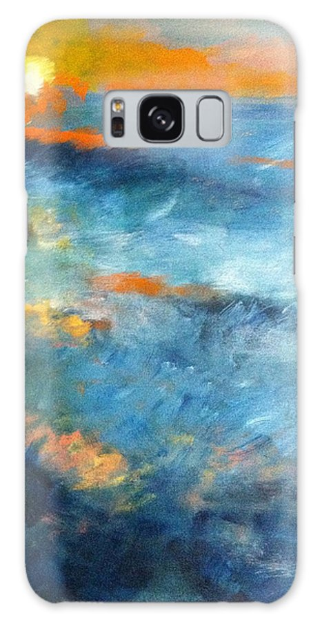 Ocean Galaxy S8 Case featuring the painting Ocean by Jean Messner