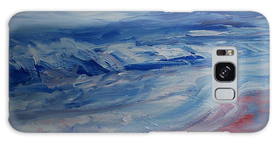 Ocean Shoreline Galaxy S8 Case featuring the painting Ocean Shoreline by Eric Schiabor