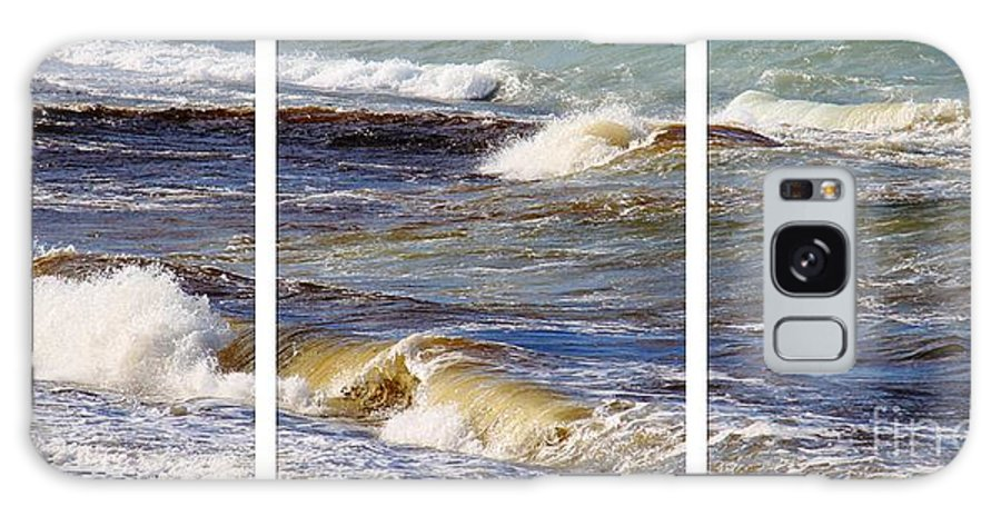 Ocean Waves Triptych Galaxy S8 Case featuring the photograph Ocean Waves Triptych by Barbara Griffin