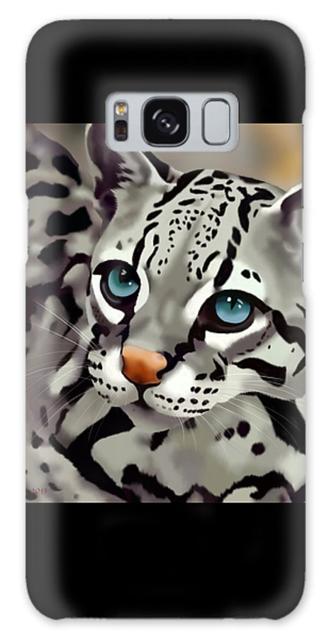 Cats Galaxy S8 Case featuring the painting Ocelot by Melissa King