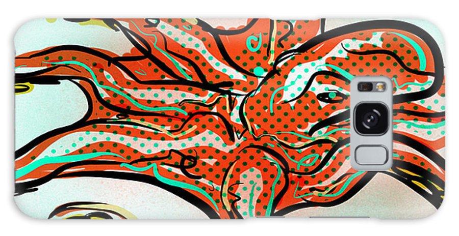 Octopus Galaxy S8 Case featuring the digital art Octopus by Brett LaGue