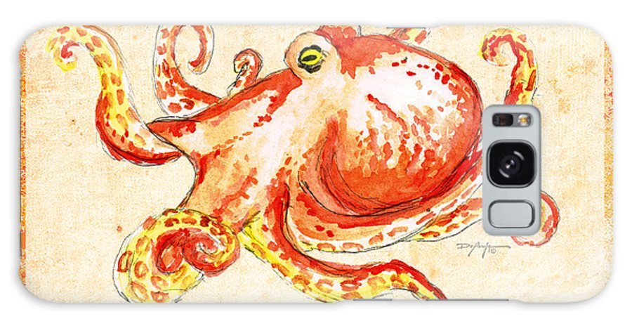 Octopus Art Galaxy S8 Case featuring the mixed media Octopus For Study by William Depaula