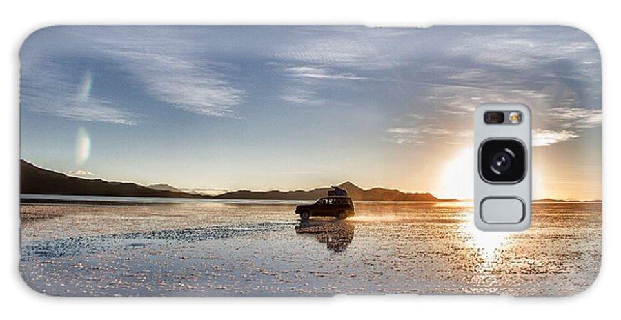 Uyuni Galaxy S8 Case featuring the photograph Off Road Uyuni Salt Flat Tour Dramatic by For Ninety One Days
