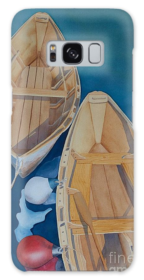 Maine Painting Galaxy S8 Case featuring the painting Oguniquit Boats by Melissa Maxwell
