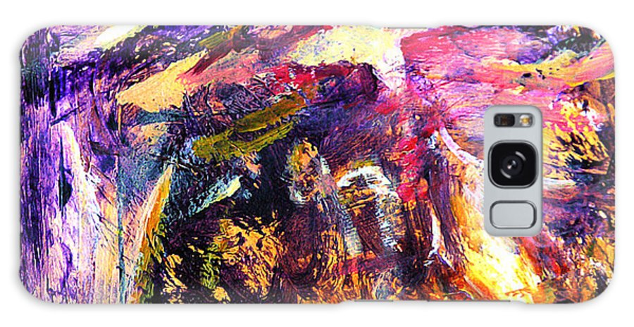 Abstract Galaxy Case featuring the painting Oh Holy Night by Julianne Felton