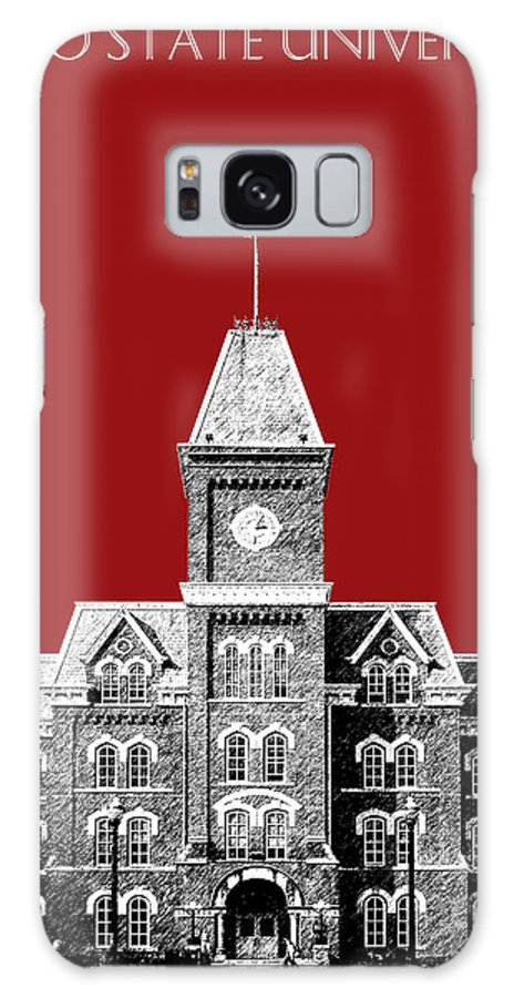 University Galaxy S8 Case featuring the digital art Ohio State University - Dark Red by DB Artist