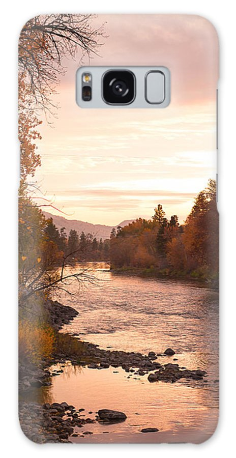 Fall River Galaxy S8 Case featuring the photograph Okanogan River In The Fall by Caroline Henry