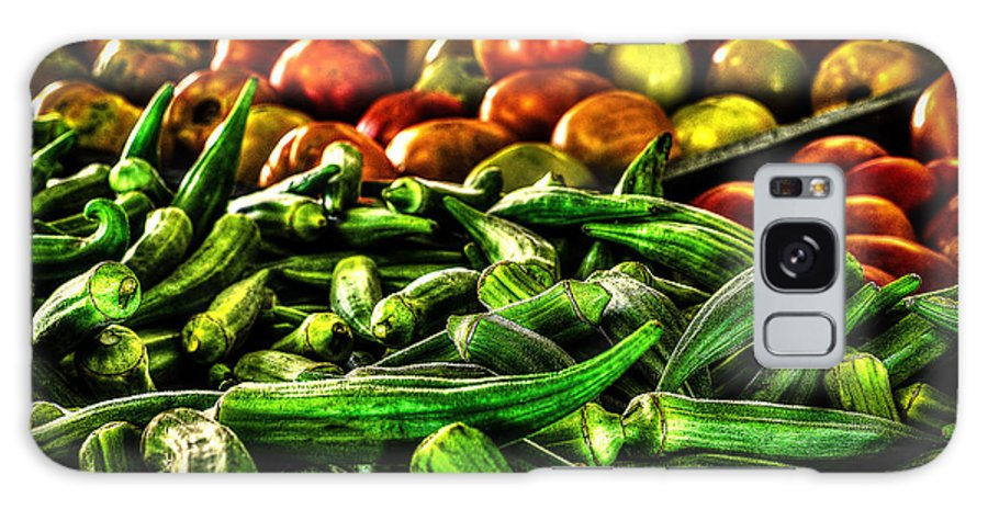 Okra Galaxy S8 Case featuring the photograph Okra And Tomatoes by David Morefield