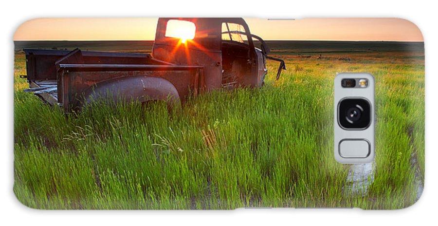 Light Galaxy S8 Case featuring the photograph Old Abandoned Pick-up Truck Sitting In by Gemstone Images