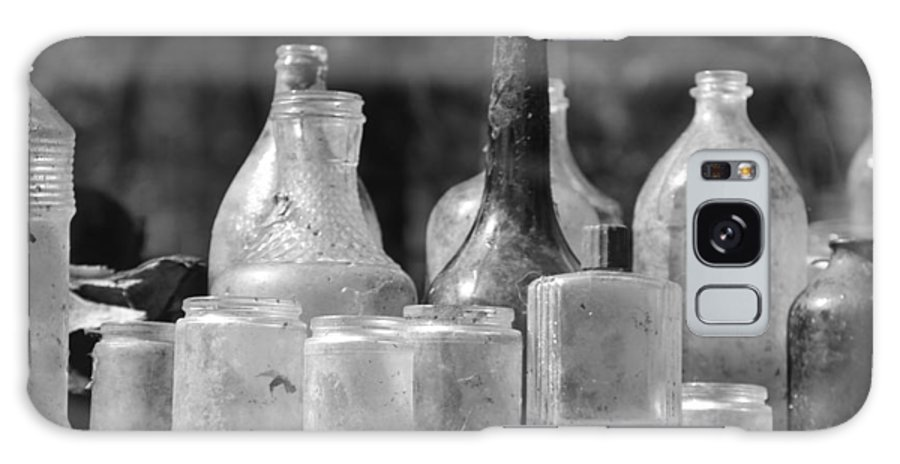 B&w Galaxy S8 Case featuring the photograph Old Bottles Two by Sarah Klessig