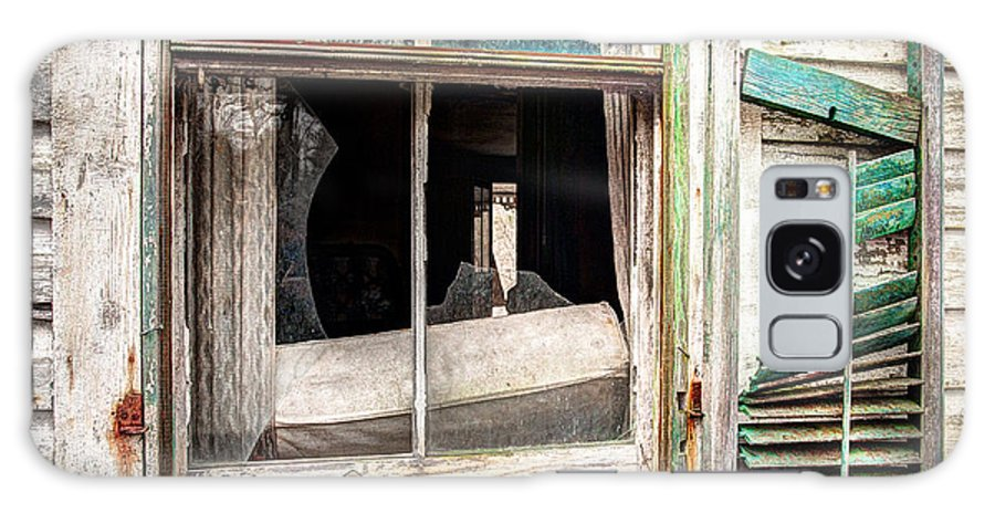 Old Windows Galaxy S8 Case featuring the photograph Old Broken Window And Shutter Of An Abandoned House by Gary Heller