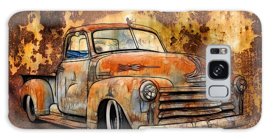 1950 Chevrolet Pickup Galaxy S8 Case featuring the photograph Old Chevy Rust by Steve McKinzie