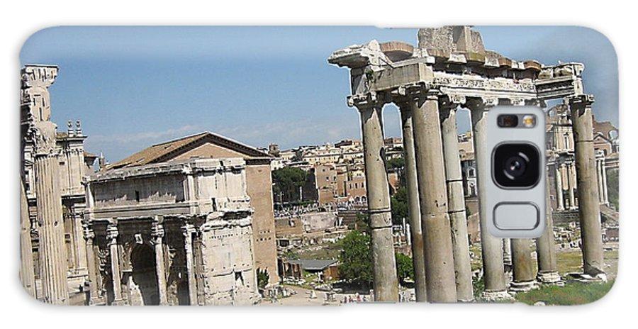 City Roma Galaxy S8 Case featuring the photograph Old City Roma by Yury Bashkin