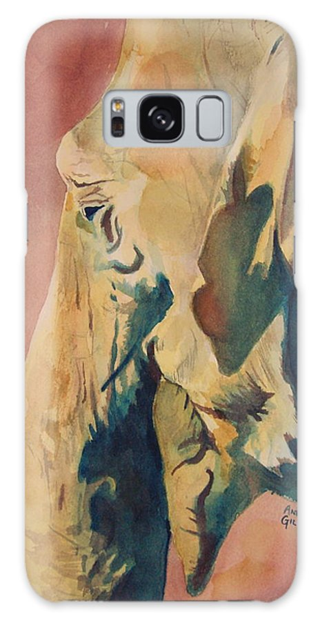 Elephant Galaxy S8 Case featuring the painting Old Elephant by Andrew Gillette