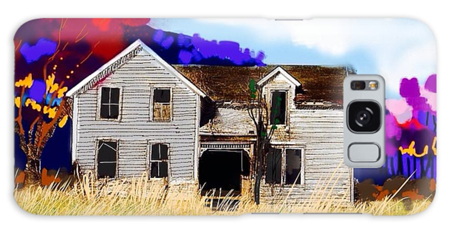Old Farm House Galaxy S8 Case featuring the painting Old Farm House by Craig Nelson