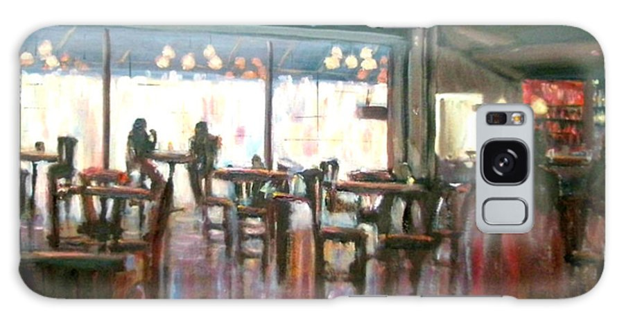 Restaurants Galaxy S8 Case featuring the painting Old Friends by Laura Toth