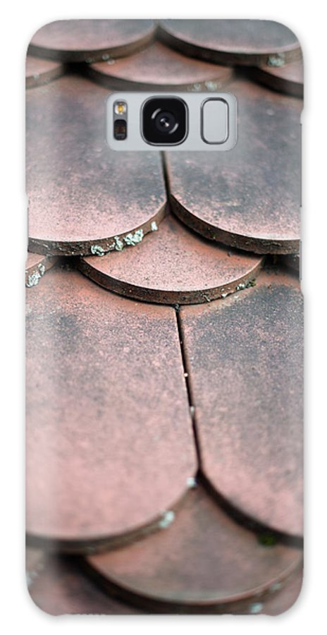 Material Galaxy S8 Case featuring the photograph Old House Red Roof Tiles by Frank Gaertner