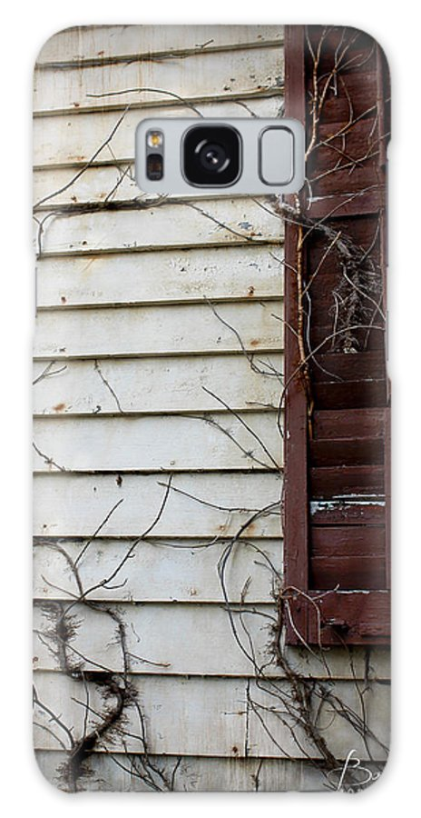 Dilapidated Galaxy S8 Case featuring the photograph Old House Red Shutter 4 by Robin Lewis