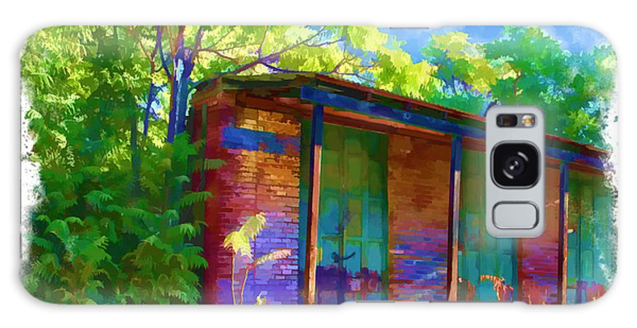 Chinese Camp Galaxy S8 Case featuring the digital art Old Iron Door Store Fronts by Ken Evans