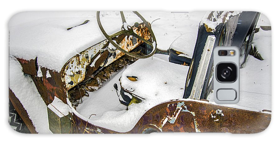 2d Galaxy S8 Case featuring the photograph Old Jeep - New Snow by Brian Wallace