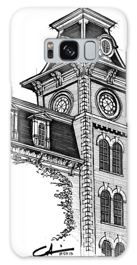 Old Main Galaxy S8 Case featuring the drawing Old Main by Calvin Durham