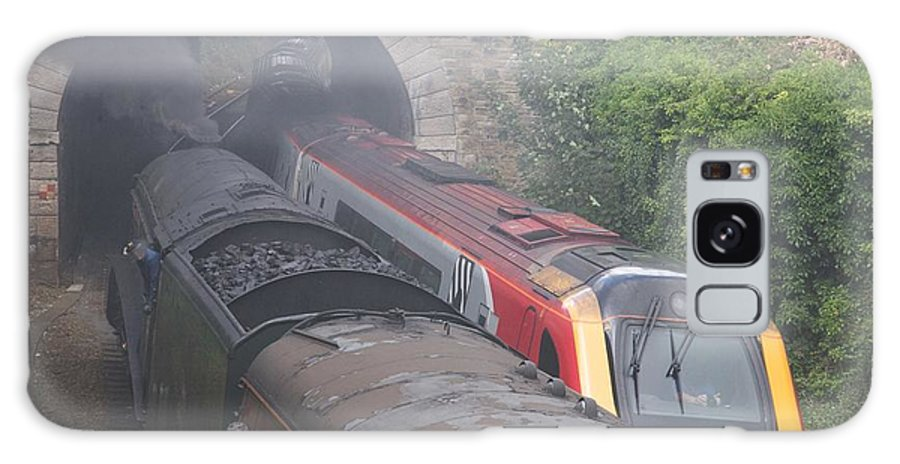 Trains Galaxy Case featuring the photograph Old Meets New. by Christopher Rowlands