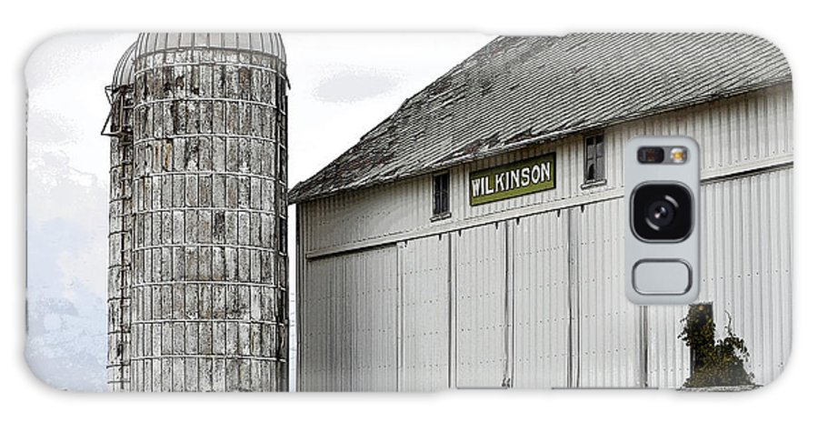 Michigan Galaxy S8 Case featuring the photograph Old Michigan Barn With Silos Color Usa by Sally Rockefeller
