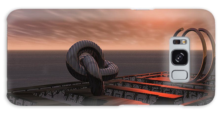 Sculpture Galaxy S8 Case featuring the digital art Old Pier And Sculptures by Judi Suni Hall